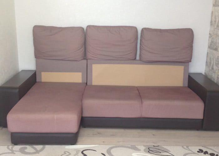 Чистка большого дивана до