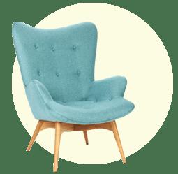 Кресла, стулья с мягкой спинкой и сиденьем