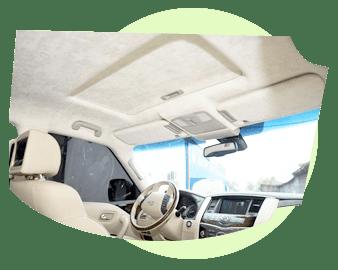 Чистка потолка автомобиля